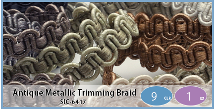 SIC-6417(Antique Metallic Trimming Braid)