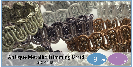 SIC-6418(Antique Metallic Trimming Braid)