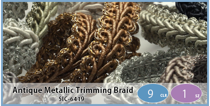 SIC-6419(Antique Metallic Trimming Braid)