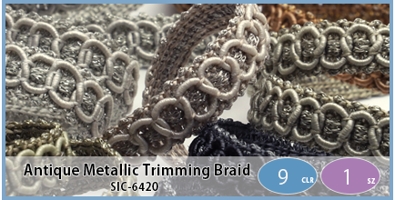 SIC-6420(Antique Metallic Trimming Braid)