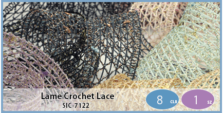 SIC-7122(Lame Crochet Lace)