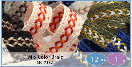 SIC-7132(Mix Color Braid)