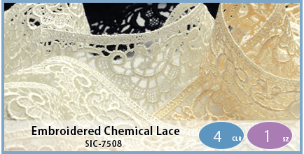 SIC-7508(Embroidered Chemical Lace)