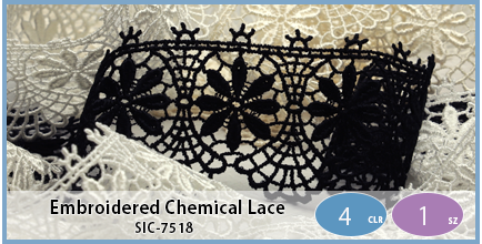 SIC-7518(Embroidered Chemical Lace)