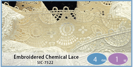 SIC-7522(Embroidered Chemical Lace)