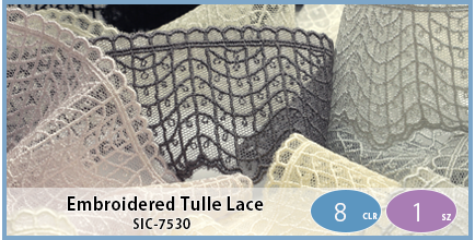 SIC-7530(Embroidered Tulle Lace)