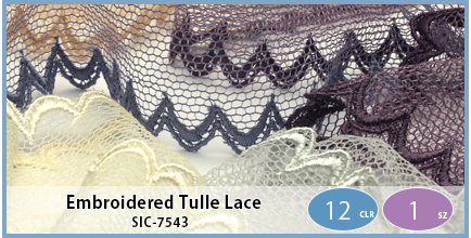 SIC-7543(Embroidered Tulle Lace)