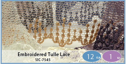 SIC-7545(Embroidered Tulle Lace)
