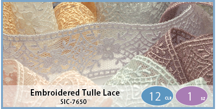 SIC-7650(Embroidered Tulle Lace)
