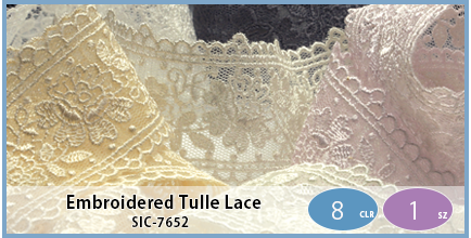 SIC-7652(Embroidered Tulle Lace)