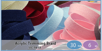 SIC-9418(Acrylic Trimming Braid)
