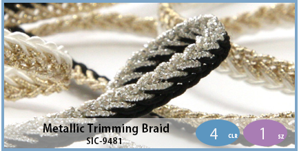 SIC-9481(Metallic Trimming Braid)