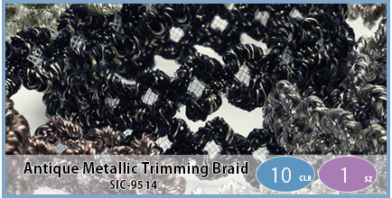 SIC-9514(Antique Metallic Trimming Braid)
