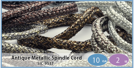 SIC-9517(Antique Metallic Spindle Cord)