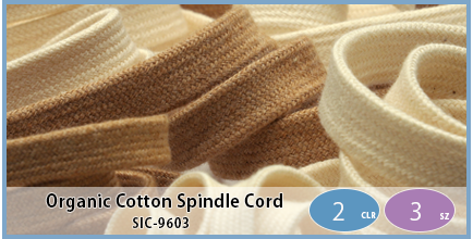 SIC-9603(Organic Cotton Spindle Cord)