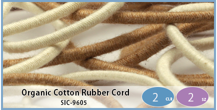 SIC-9605(Organic Cotton Rubber Cord)
