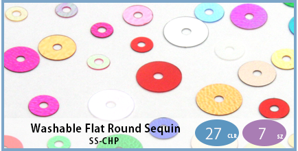 SS-CHP(Washable Flat Round Sequin)