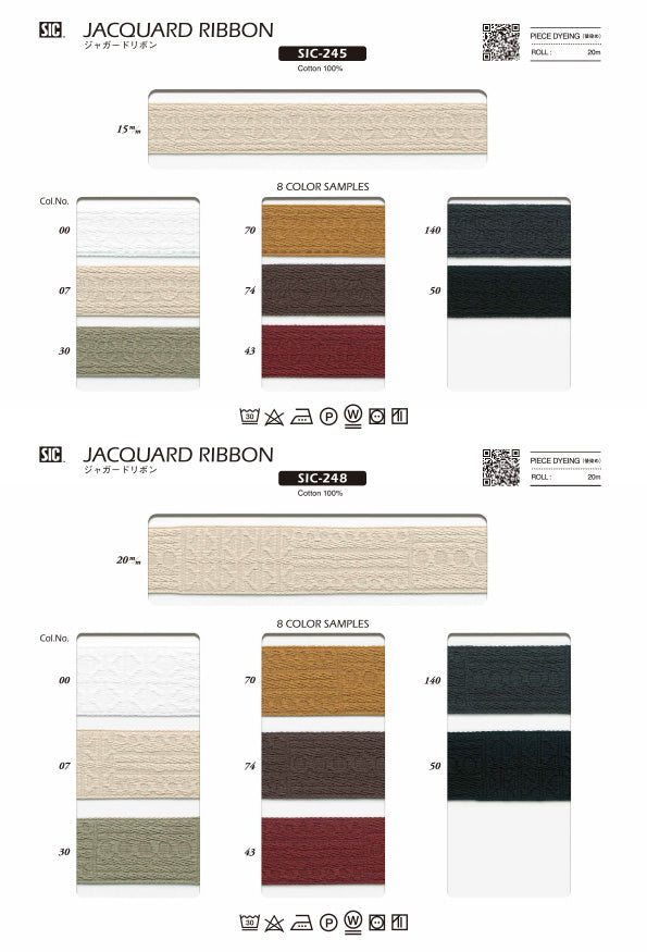 Sample Card Jacquard Ribbon