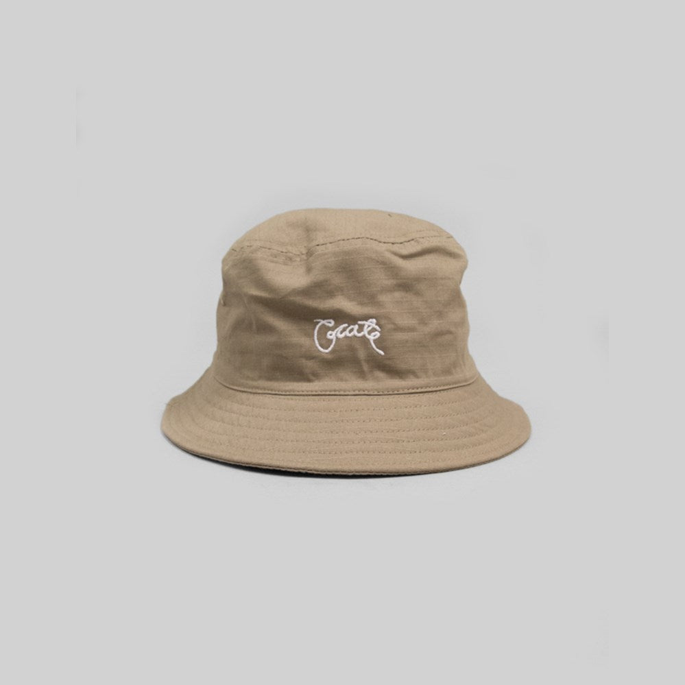 Unisex Scripted Bucket Tan