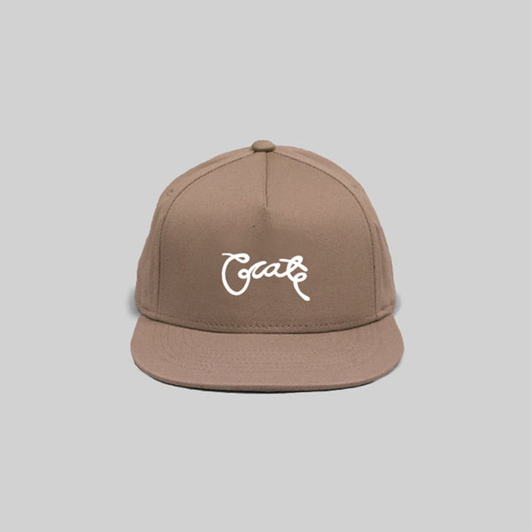 Unisex Scripted Snapback Tan