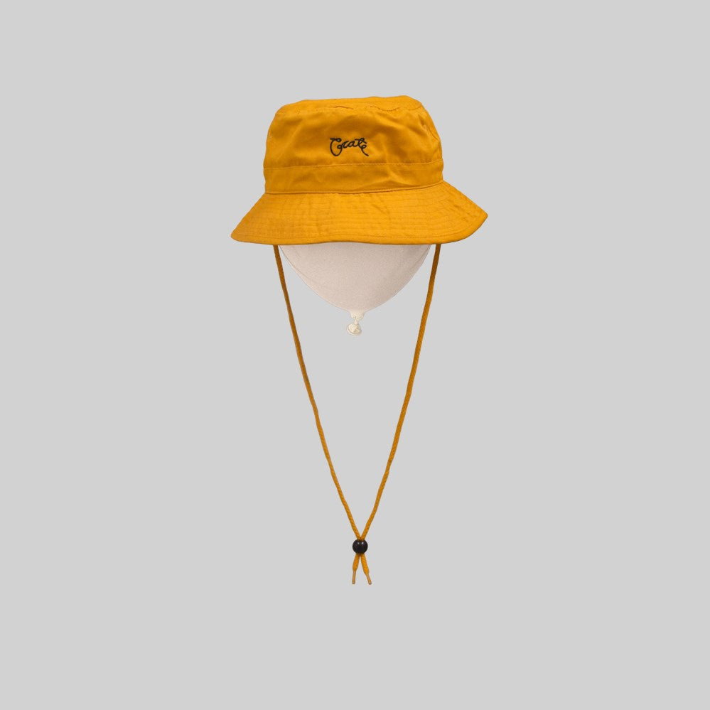 Unisex Scripted Bucket Hat Yellow