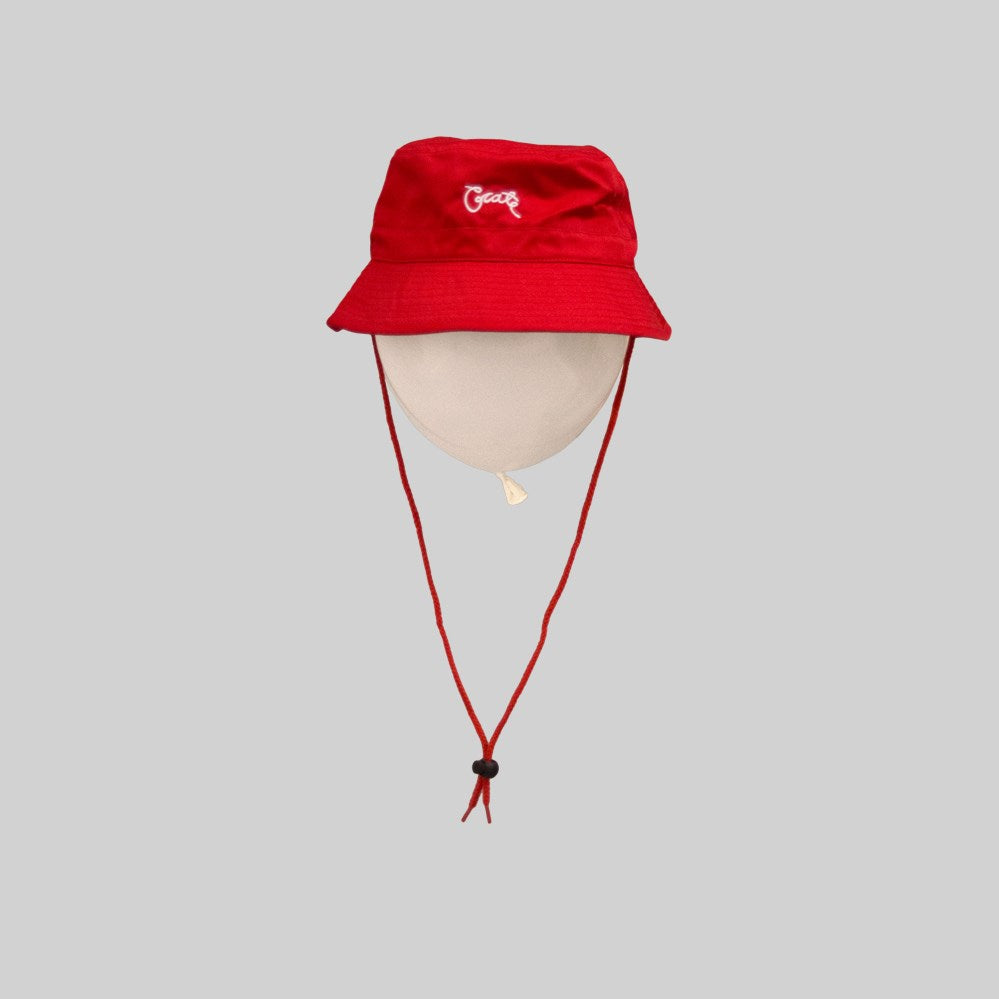 Unisex Scripted Bucket Hat Red
