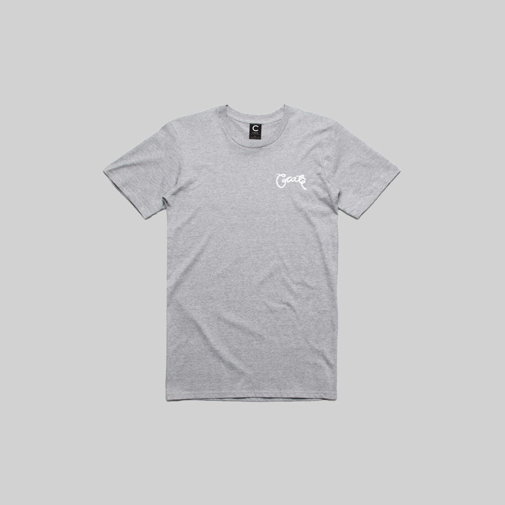 Mens Scripted T-Shirt Grey Marle