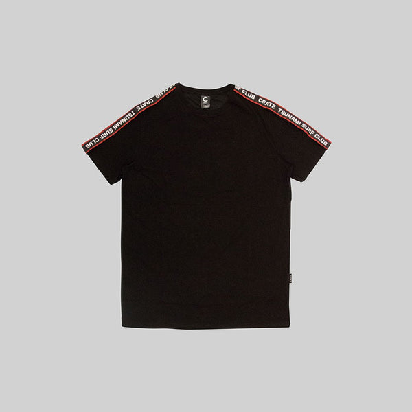 Mens Tsunami Tape T-Shirt Black
