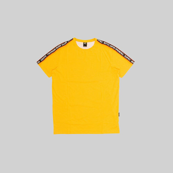 Mens Tsunami Tape T-Shirt Yellow