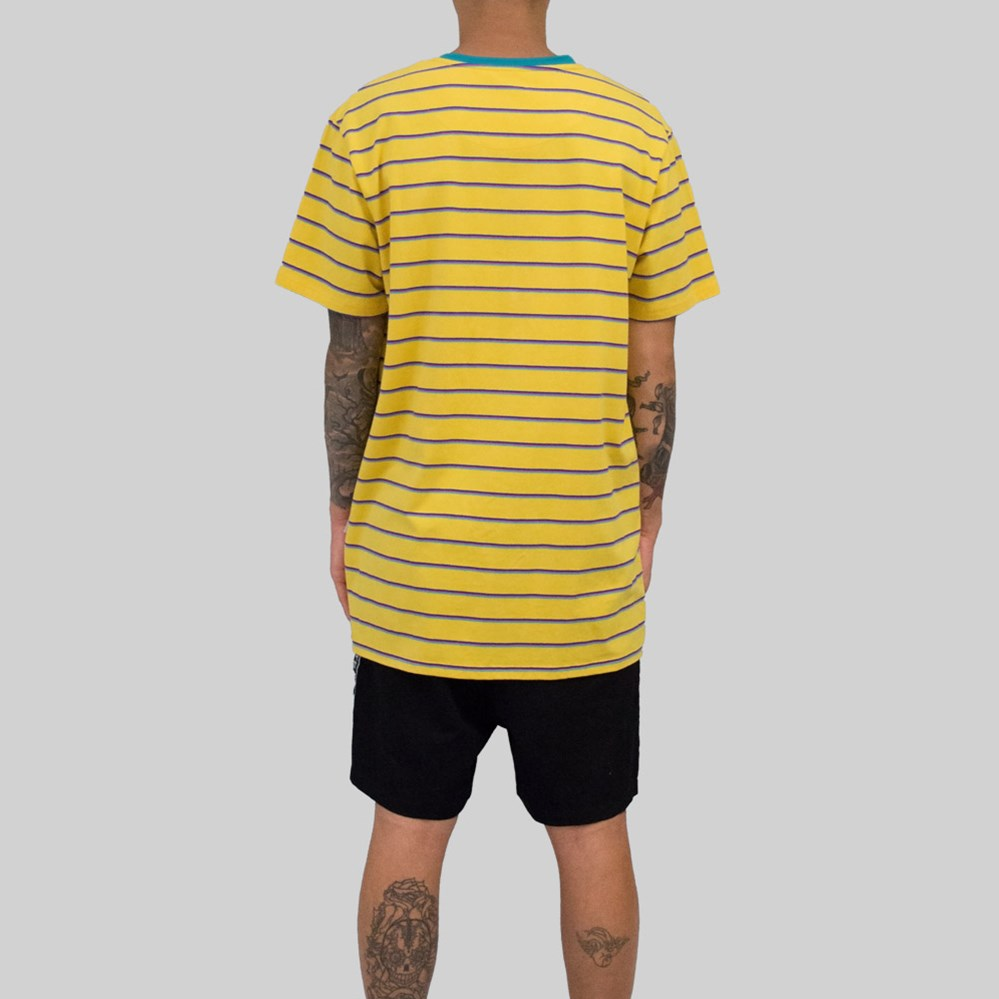 Mens Sailor T-Shirt Yellow/Green