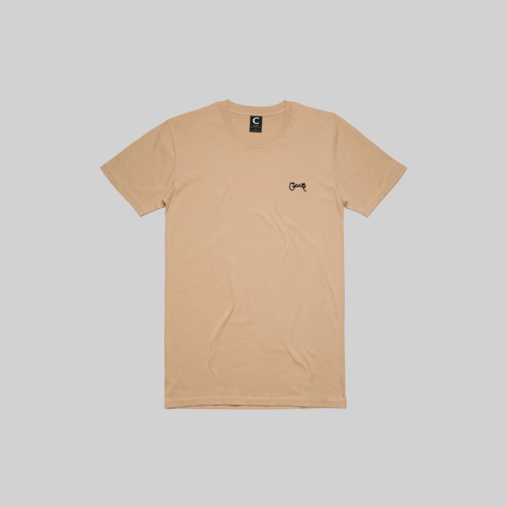 Mens Stamp T-Shirt Tan