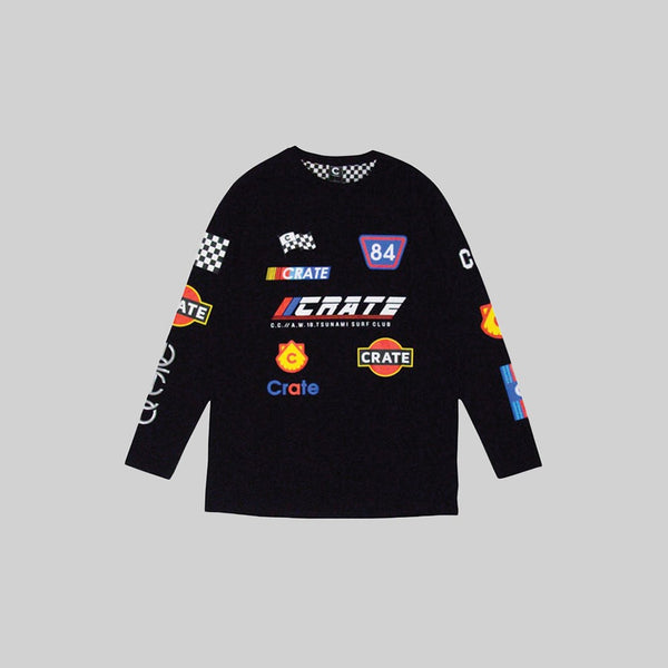 Mens Racing Team Long Sleeve Black