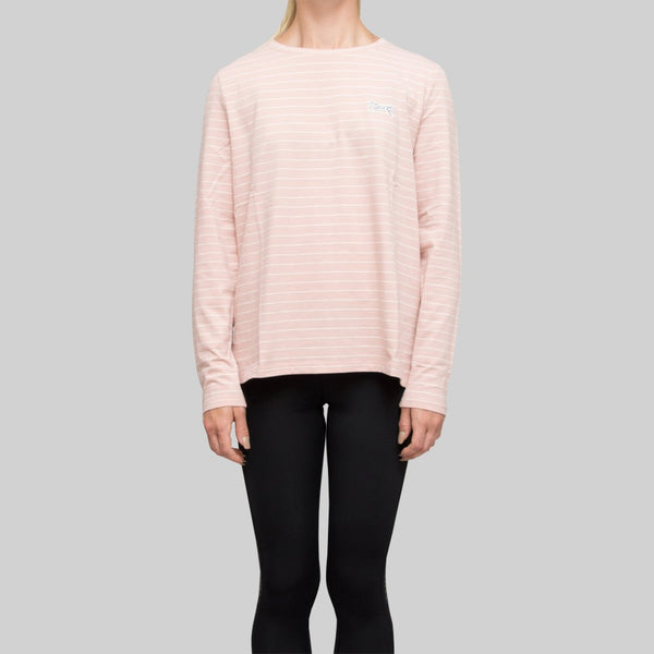 Womens Seasonal Stripe Long Sleeve Pink