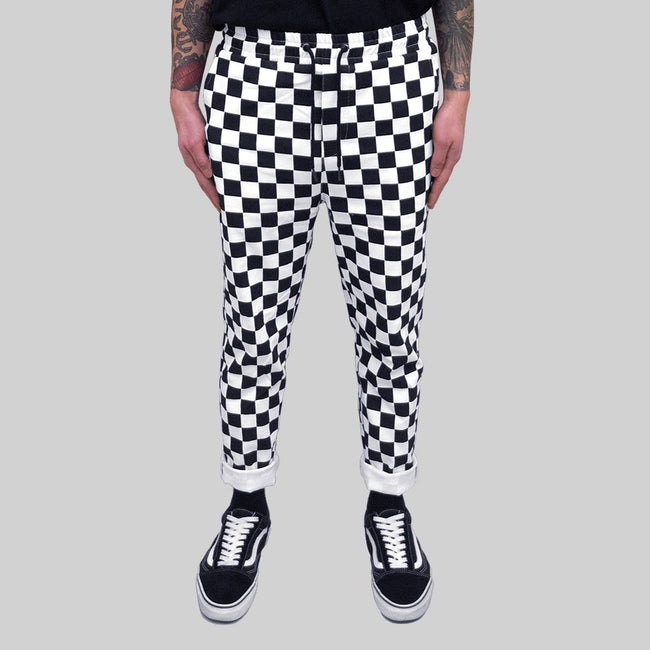 Mens Checkered Pant Black/White