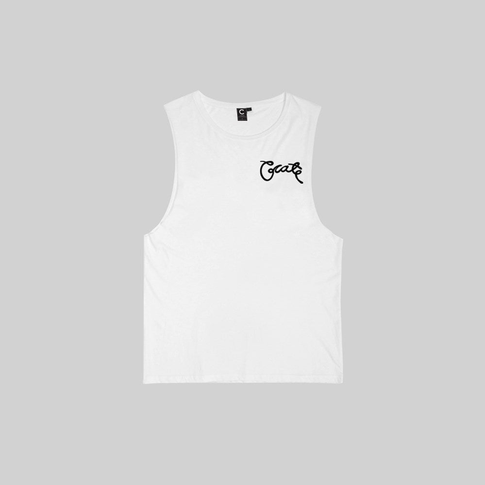 Mens Scripted Muscle T-Shirt White