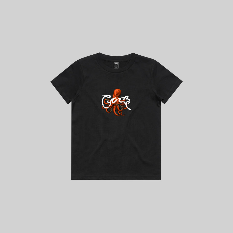 KID'S OCTOPUS SCRIPT T-SHIRT