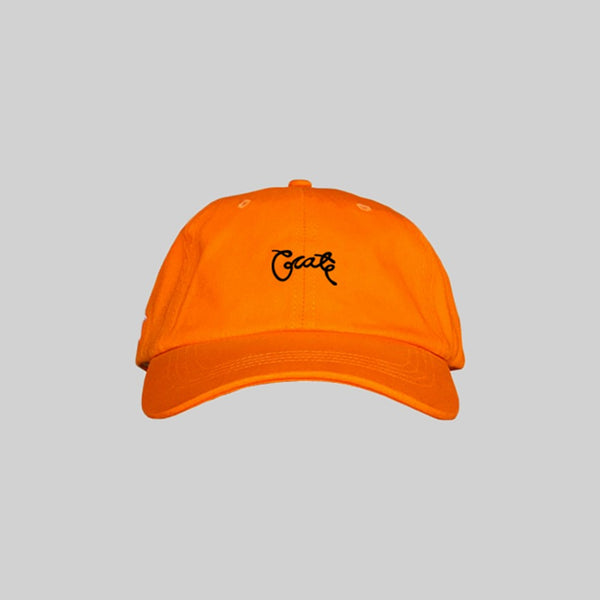 Unisex Scripted Cap Orange