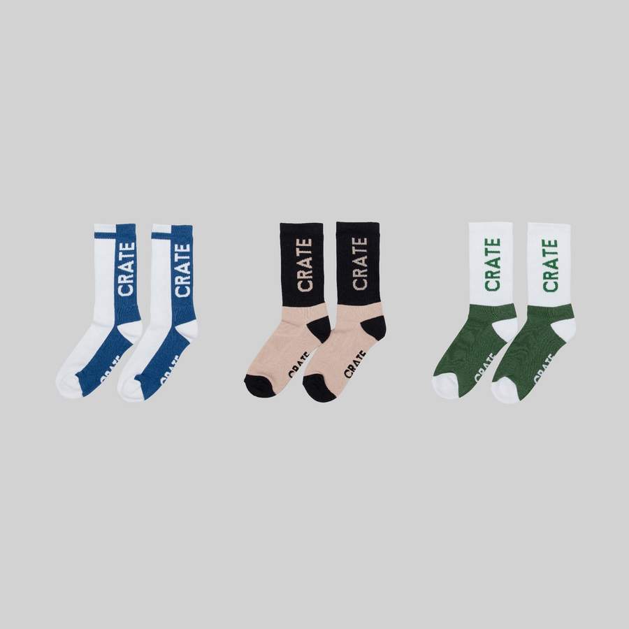 Crate Block Out Socks 3 Pack