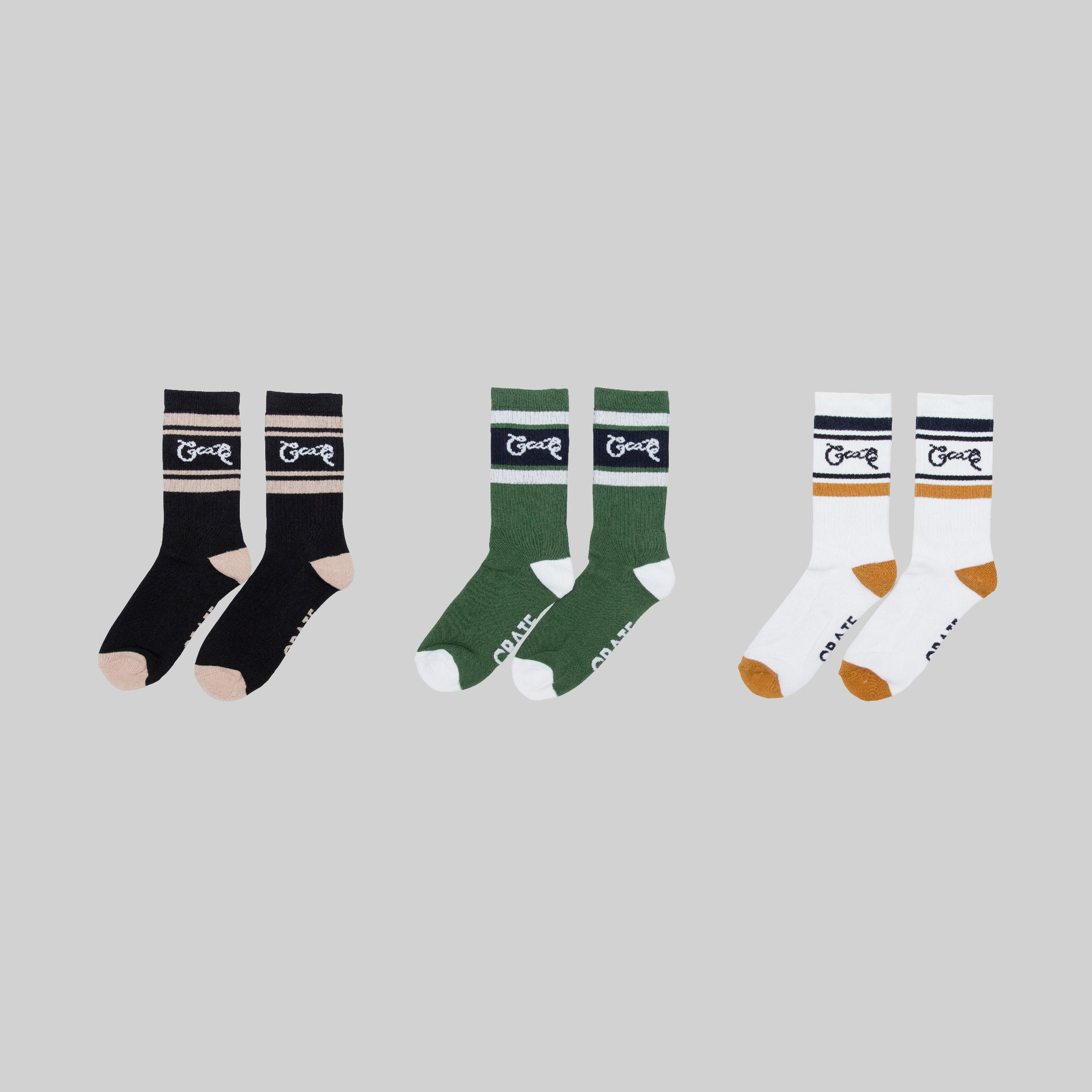 Crate OG Stripe Socks 3 Pack