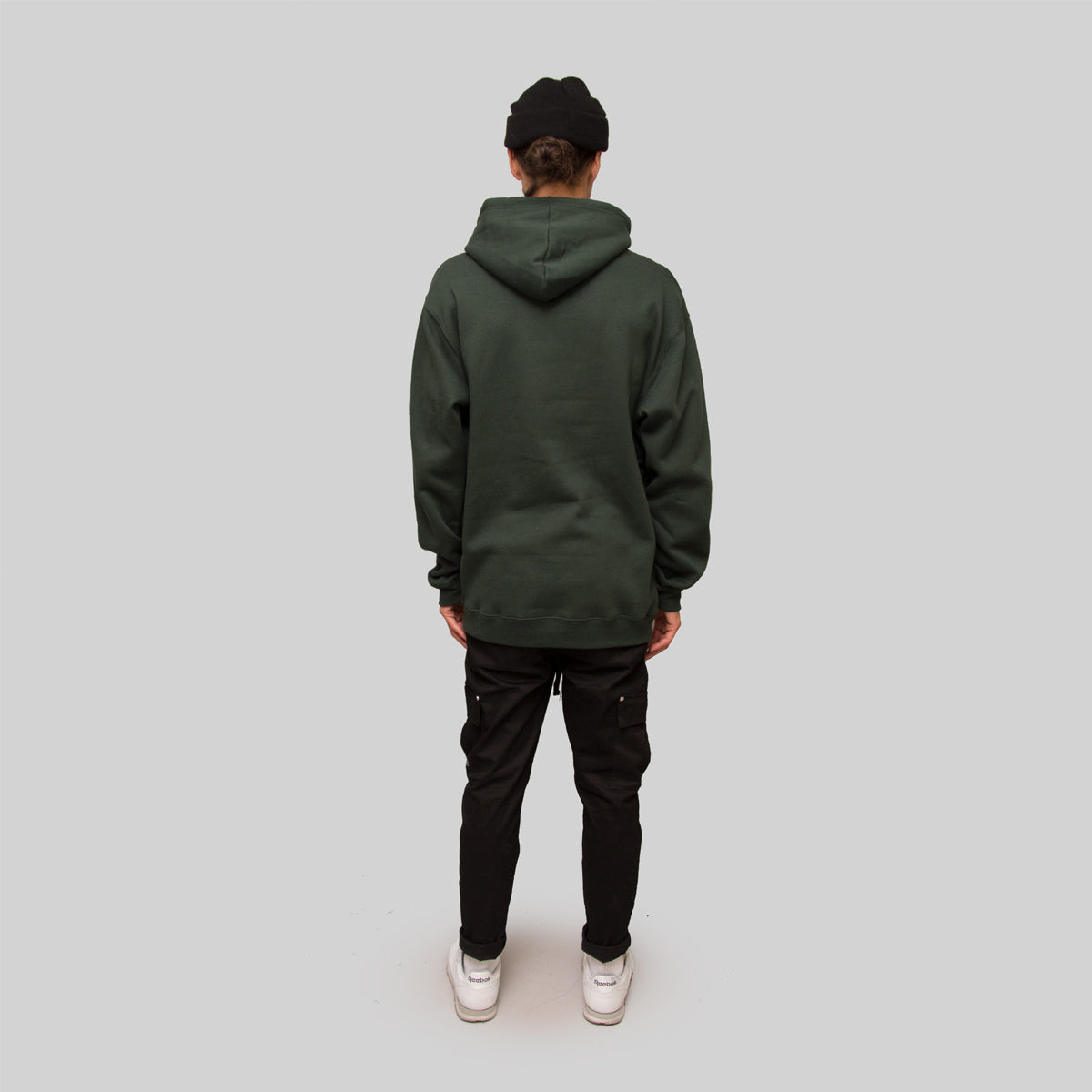 Mens Basic Script Hoodie Forest