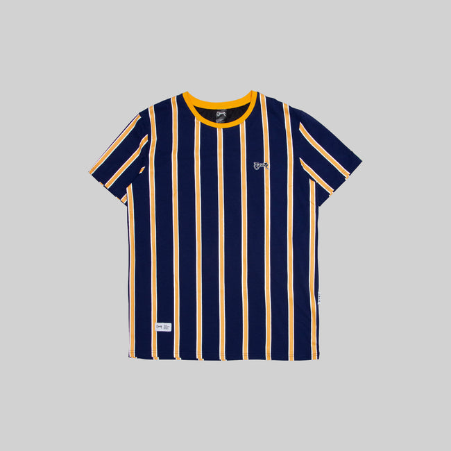 Mens Navy/Gold Stripe T-Shirt