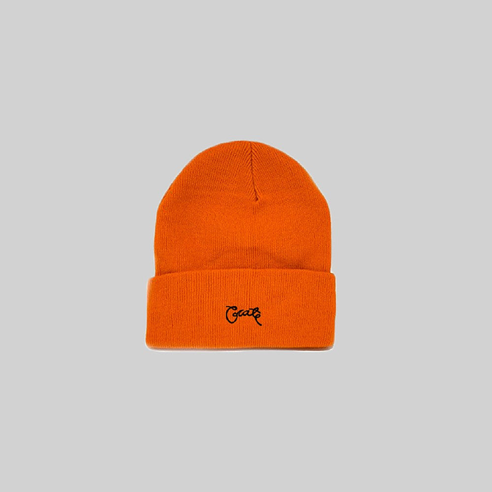 Unisex Scripted Beanie Orange
