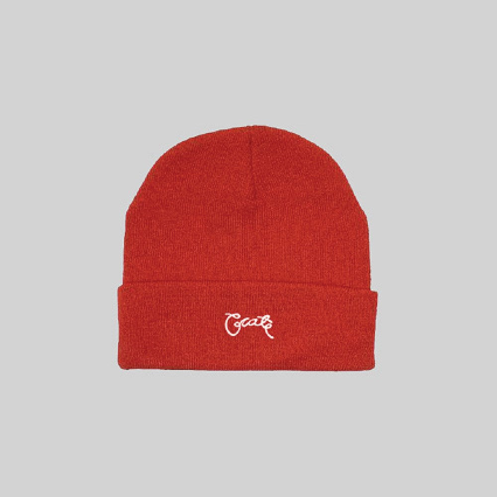 Unisex Scripted Beanie Red