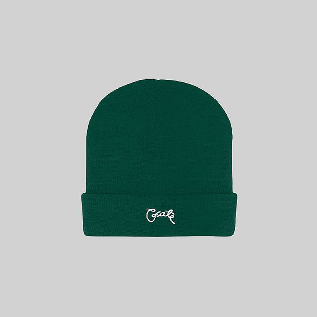 Unisex Scripted Beanie Forest
