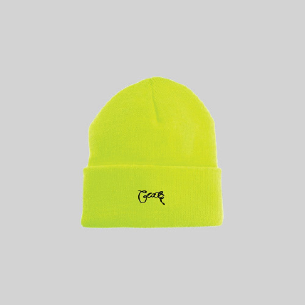 Unisex Scripted Beanie Safety Yellow