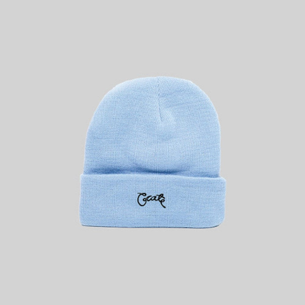 Unisex Scripted Beanie Baby Blue