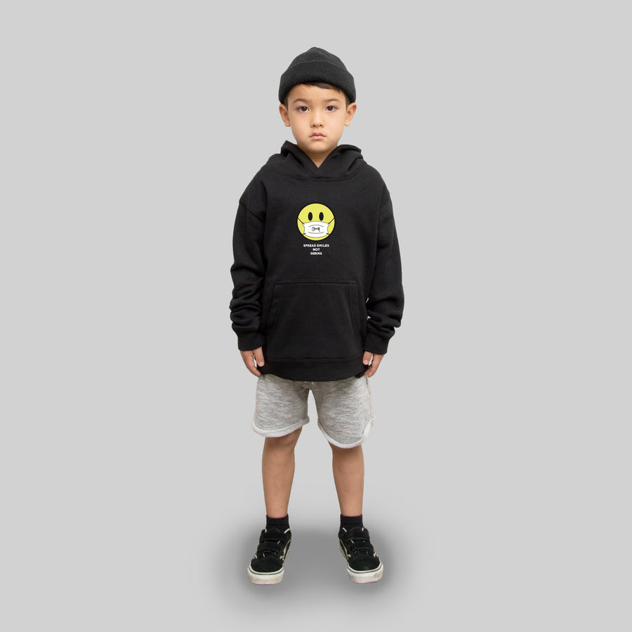 KIDS SPREAD SMILES NOT GERMS HOODIE