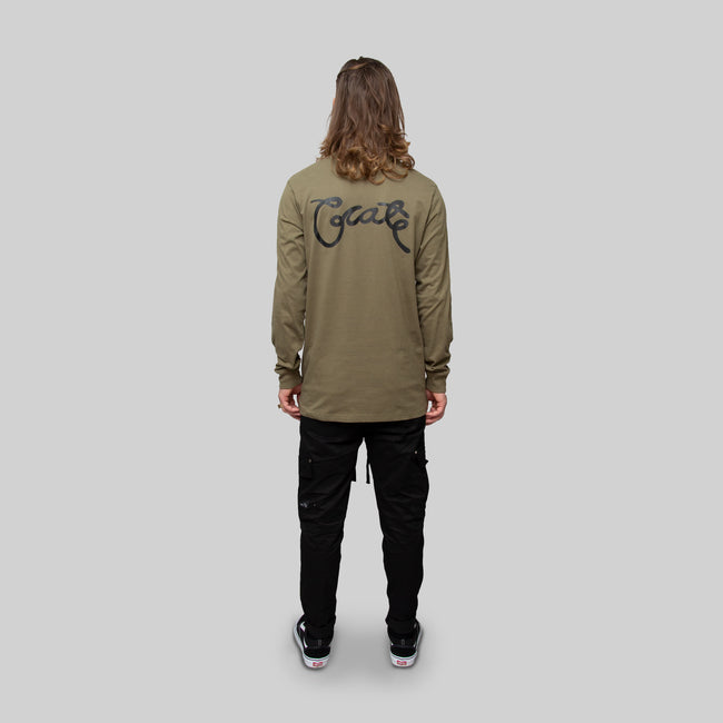 Mens Scripted Long Sleeve