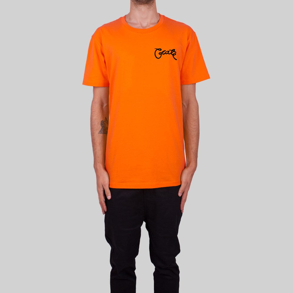 Mens Scripted T-Shirt Orange