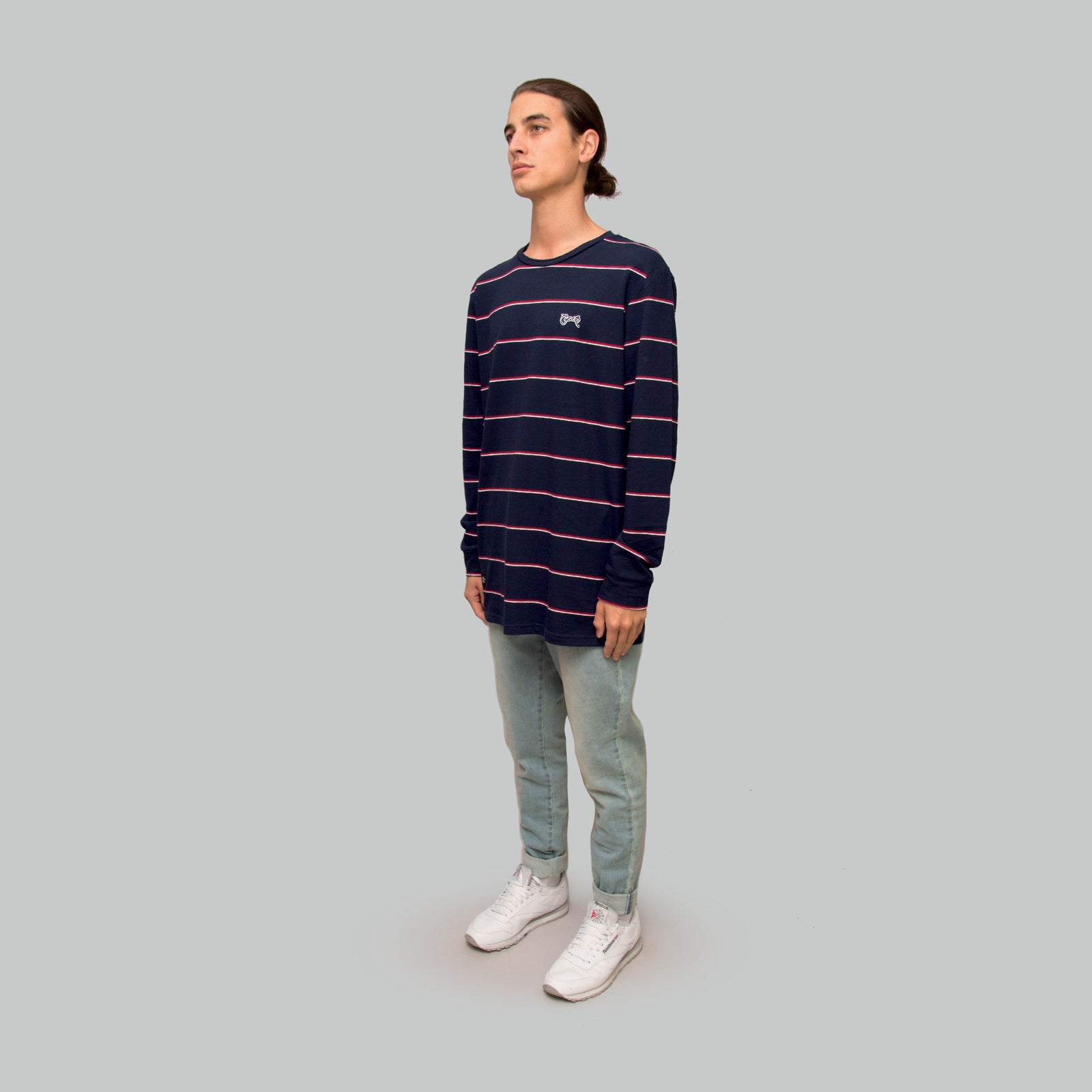 Mens Easy Stripe Long Sleeve
